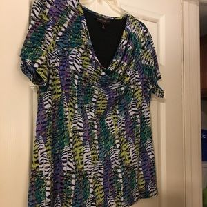 Beautiful lined cowl neck blouse. Like new